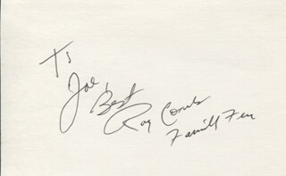 RAY COMBS - AUTOGRAPH NOTE SIGNED