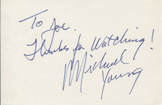 MICHAEL YOUNG - AUTOGRAPH NOTE SIGNED