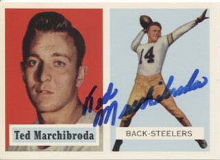 TED MARCHIBRODA - TRADING/SPORTS CARD SIGNED