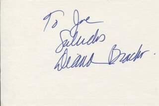 DIANA BRACHO - AUTOGRAPH NOTE SIGNED