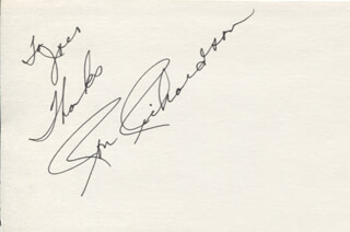 RON RICHARDSON - AUTOGRAPH NOTE SIGNED