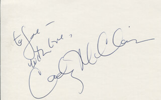 CADY MCCLAIN - AUTOGRAPH NOTE SIGNED