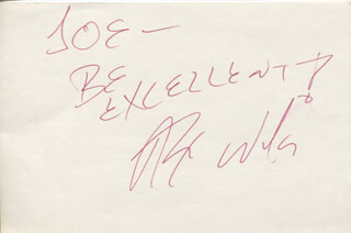 ALEX WINTER - AUTOGRAPH NOTE SIGNED