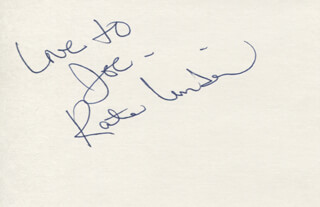 KATE LINDER - AUTOGRAPH NOTE SIGNED