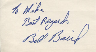 BILL BAIRD - AUTOGRAPH NOTE SIGNED
