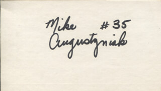 MIKE AUGUSTYNIAK - AUTOGRAPH