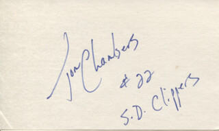 TOM CHAMBERS - AUTOGRAPH