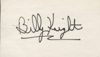 BILLY KNIGHT - AUTOGRAPH