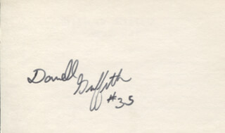 DARRELL GRIFFITH - AUTOGRAPH