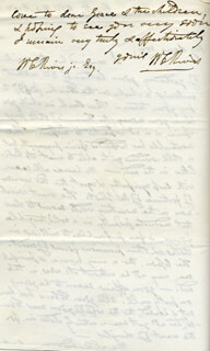 WILLIAM CABELL RIVES - AUTOGRAPH LETTER SIGNED 10/08/1857