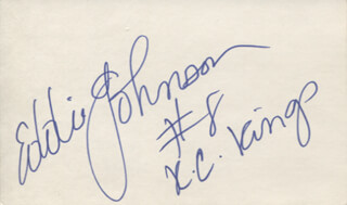 EDDIE JOHNSON - AUTOGRAPH