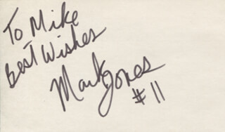 MARK JONES - AUTOGRAPH NOTE SIGNED