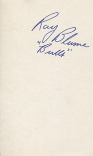 Autographs: RAY BLUME - SIGNATURE(S)