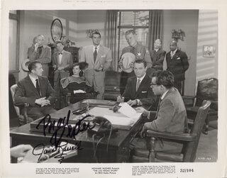 THE LAS VEGAS STORY MOVIE CAST - PRINTED PHOTOGRAPH SIGNED IN INK CO-SIGNED BY: BRAD DEXTER, JANE RUSSELL