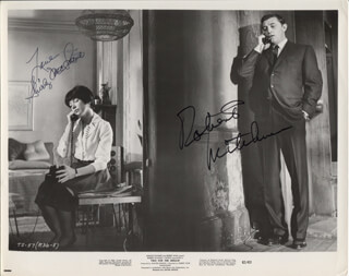 TWO FOR THE SEESAW MOVIE CAST - PRINTED PHOTOGRAPH SIGNED IN INK CO-SIGNED BY: SHIRLEY MacLAINE, ROBERT MITCHUM