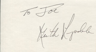 KEITH LANGSDALE - INSCRIBED SIGNATURE
