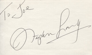 STEPHEN LANG - INSCRIBED SIGNATURE