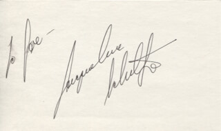 JACQUELINE SCHULTZ - INSCRIBED SIGNATURE