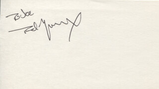 TED MARCOUX - INSCRIBED SIGNATURE