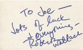 ROBERTA WALLACH - AUTOGRAPH NOTE SIGNED