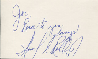 HOWARD ROLLINS - AUTOGRAPH NOTE SIGNED 1983