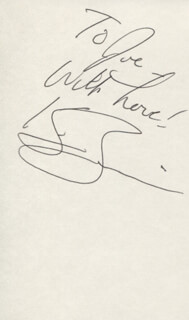 KIM ZIMMER - AUTOGRAPH NOTE SIGNED
