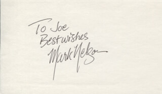 MARK NELSON - AUTOGRAPH NOTE SIGNED