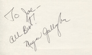MEGAN GALLAGHER - AUTOGRAPH NOTE SIGNED