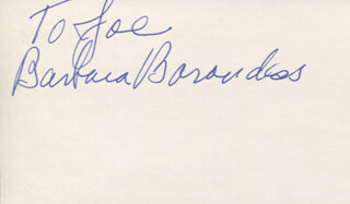 Autographs: BARBARA BARONDESS - INSCRIBED SIGNATURE