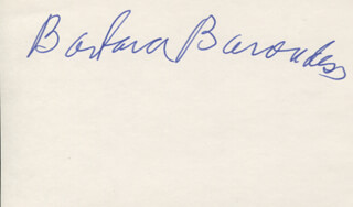 Autographs: BARBARA BARONDESS - SIGNATURE(S)