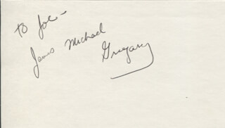 JAMES GREGORY - INSCRIBED SIGNATURE