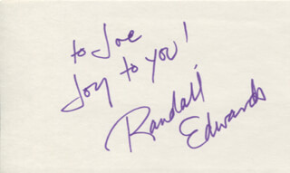 RANDALL EDWARDS - AUTOGRAPH NOTE SIGNED