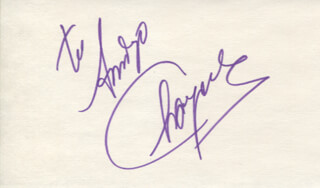 CHAYANNE - INSCRIBED SIGNATURE