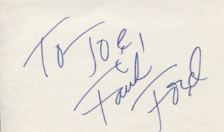 FAITH FORD - INSCRIBED SIGNATURE