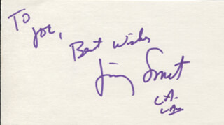 JIMMY SMITS - AUTOGRAPH NOTE SIGNED