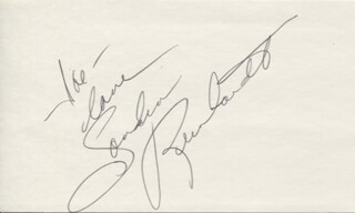 SANDRA DEE ROBINSON - AUTOGRAPH NOTE SIGNED
