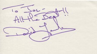 DAVID LANSBURY - AUTOGRAPH NOTE SIGNED