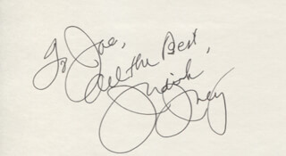 JUDITH IVEY - AUTOGRAPH NOTE SIGNED