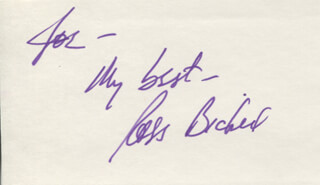 ROSS BICKELL - AUTOGRAPH NOTE SIGNED
