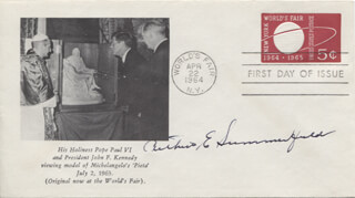 ARTHUR E. SUMMERFIELD - FIRST DAY COVER SIGNED
