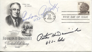 PETER DOMINICK - FIRST DAY COVER SIGNED CO-SIGNED BY: GORDON LLEWELLYN ALLOTT