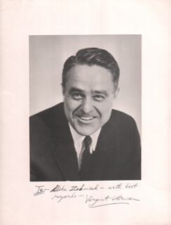 SARGENT SHRIVER - INSCRIBED PHOTOGRAPH MOUNT SIGNED