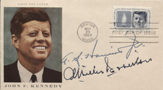 GOVERNOR ALBERTIS S. HARRISON JR. - FIRST DAY COVER SIGNED CO-SIGNED BY: ABSALOM WILLIS ROBERTSON