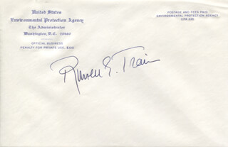 RUSSELL E. TRAIN - ENVELOPE SIGNED