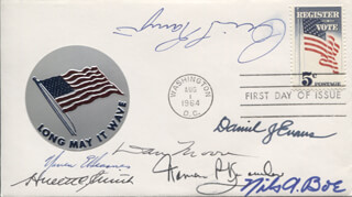 GOVERNOR WARREN E. HEARNES - FIRST DAY COVER SIGNED CO-SIGNED BY: WARREN P. KNOWLES, GOVERNOR DAN K. MOORE, GOVERNOR HULETT C. SMITH, GOVERNOR CALVIN L. RAMPTON, GOVERNOR NILS A. BOE, GOVERNOR DANIEL J. EVANS