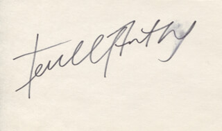 TERRELL ANTHONY - AUTOGRAPH