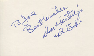 DON HASTINGS - AUTOGRAPH NOTE SIGNED