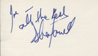 SHEA FARRELL - AUTOGRAPH NOTE SIGNED