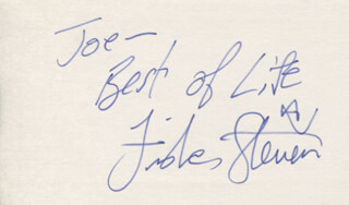 FISHER STEVENS - AUTOGRAPH NOTE SIGNED