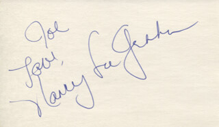 NANCY LEE GRAHN - AUTOGRAPH NOTE SIGNED